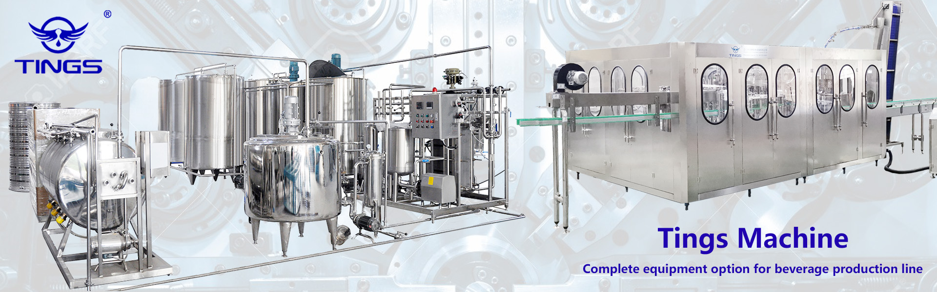 04 TINGS Machine Complete Equipment Option For Beverage Production Line
